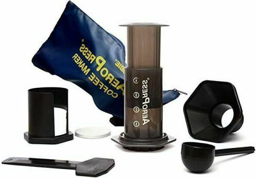 coffee and espresso maker with tote bag