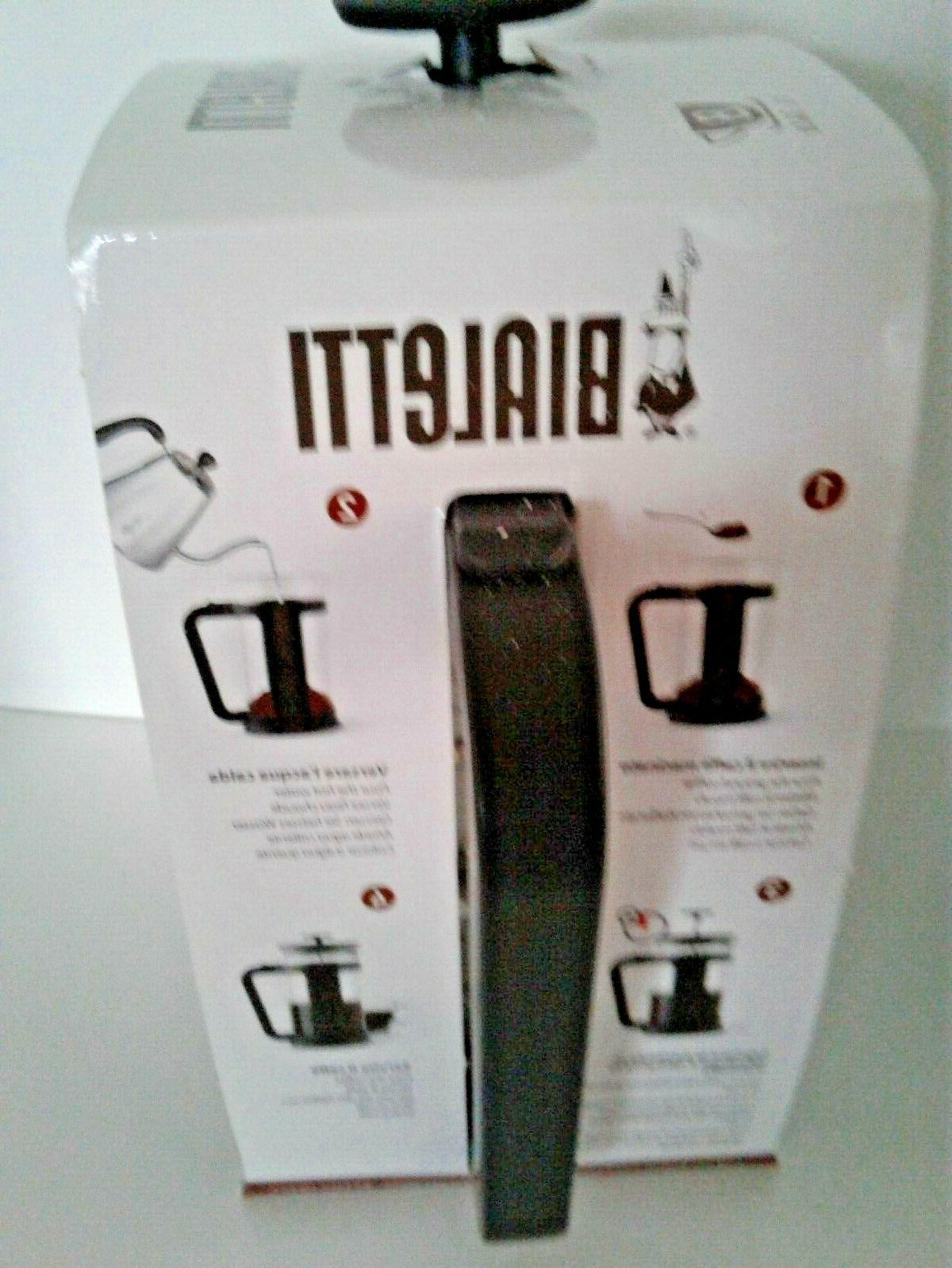 Bialetti Coffee French 8 Black Cups NEW