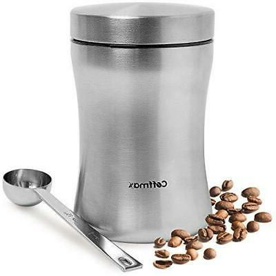 Coffee Storage Container Airtight Beans or Ground Canister J