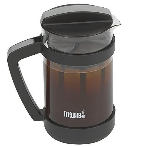 Bialetti Cold Brew Coffee Carafe & Mesh Filter Portable Cold Brew Coffee Maker Infuser Coarse, 24oz
