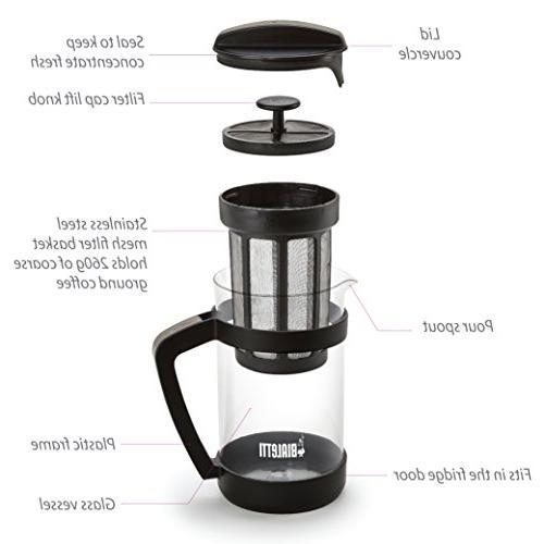 Bialetti Brew Maker 06765 – Carafe & Portable Coffee & Tea Infuser For Coarse, Ground