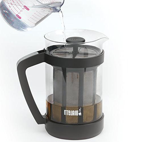 Bialetti Maker – Carafe Stainless Mesh Filter Portable Cold Coffee & Tea Infuser – Best Coarse,
