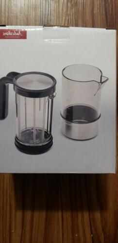 And colors branded French Press Coffee Maker - Silver black