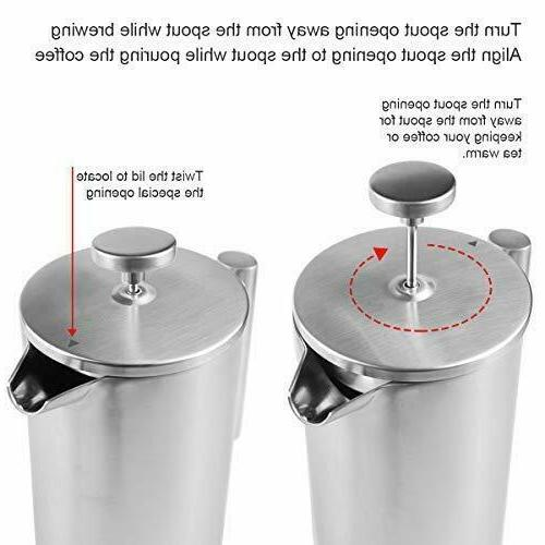 ENLOY Coffee Maker Double-Wall Steel Coffee and