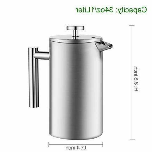 ENLOY French Press Coffee Maker Double-Wall Coffee Tea