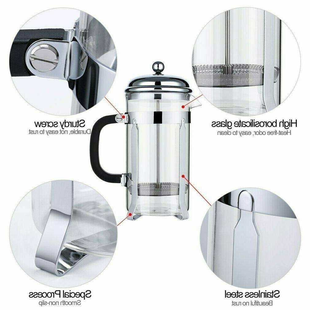 FINNHOMY 34OZ Glass Press coffee/tea