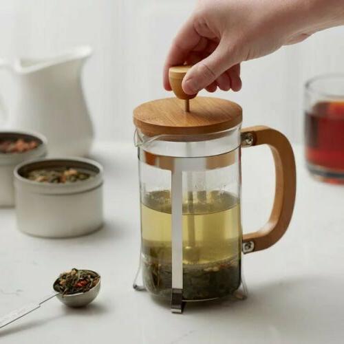 RITUAL FRENCH COFFEE BAMBOO WOOD BOROSILICATE GLASS