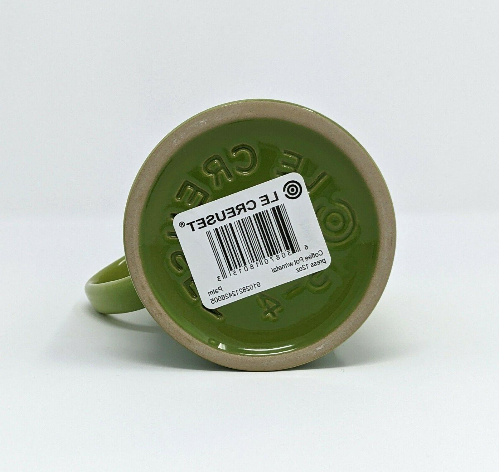 LE Press, 12oz Ceramic Palm Coffee NEW