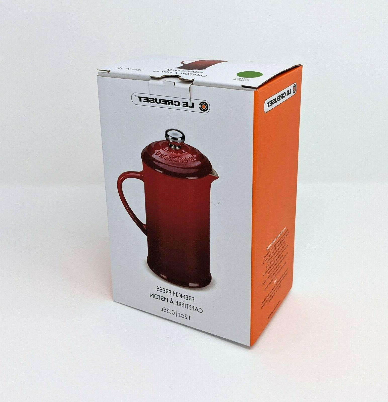 LE CREUSET French Coffee Maker. NEW