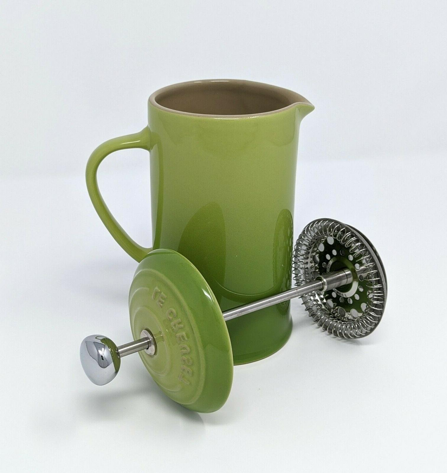 LE French 12oz Ceramic Palm Coffee NEW
