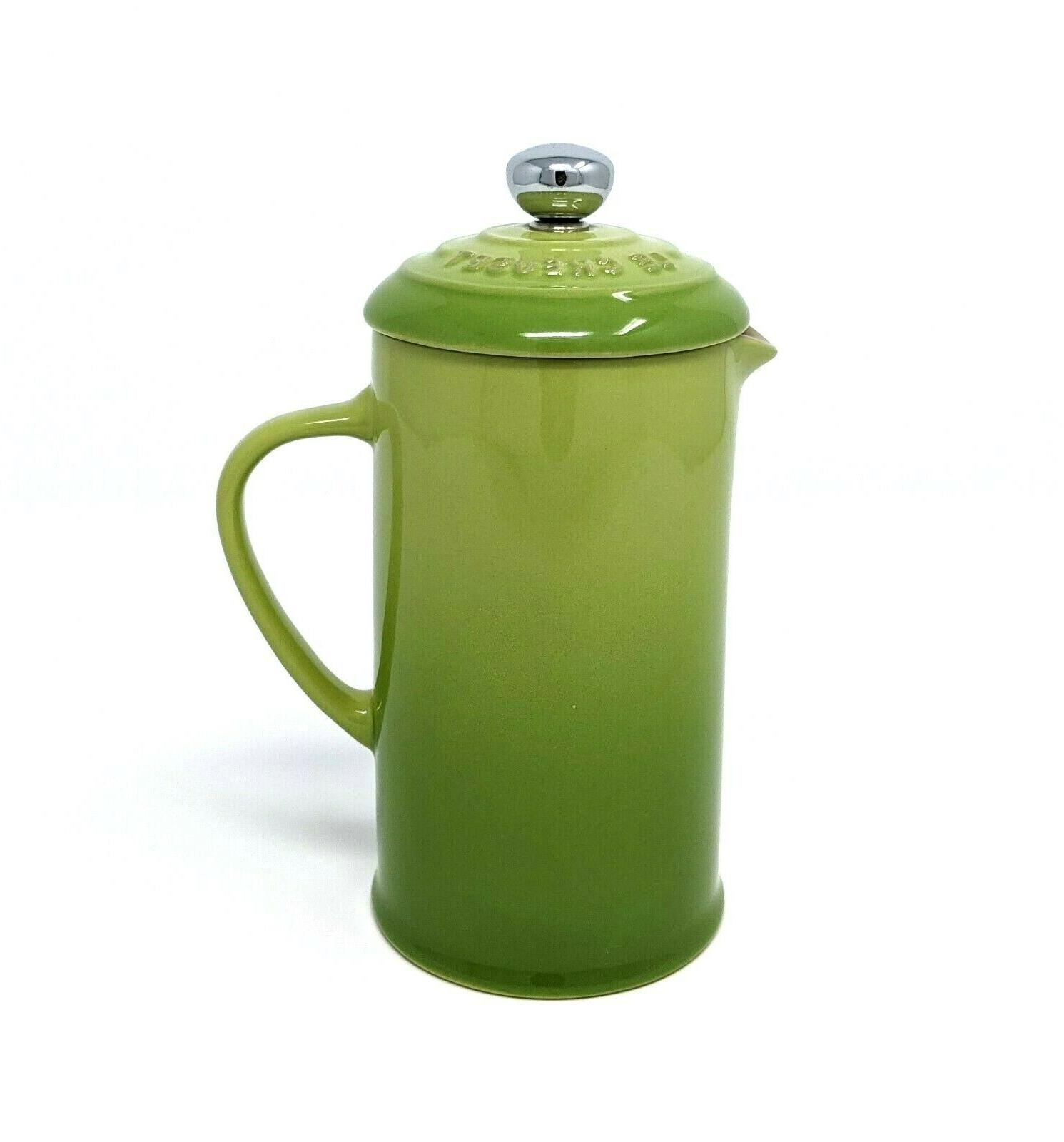 french press 12oz 350ml ceramic palm green