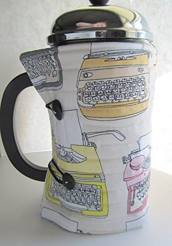 french press coffee cozy vintage