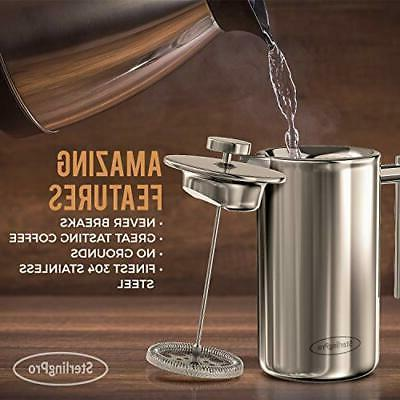 SterlingPro French Maker -Double Coffee Press