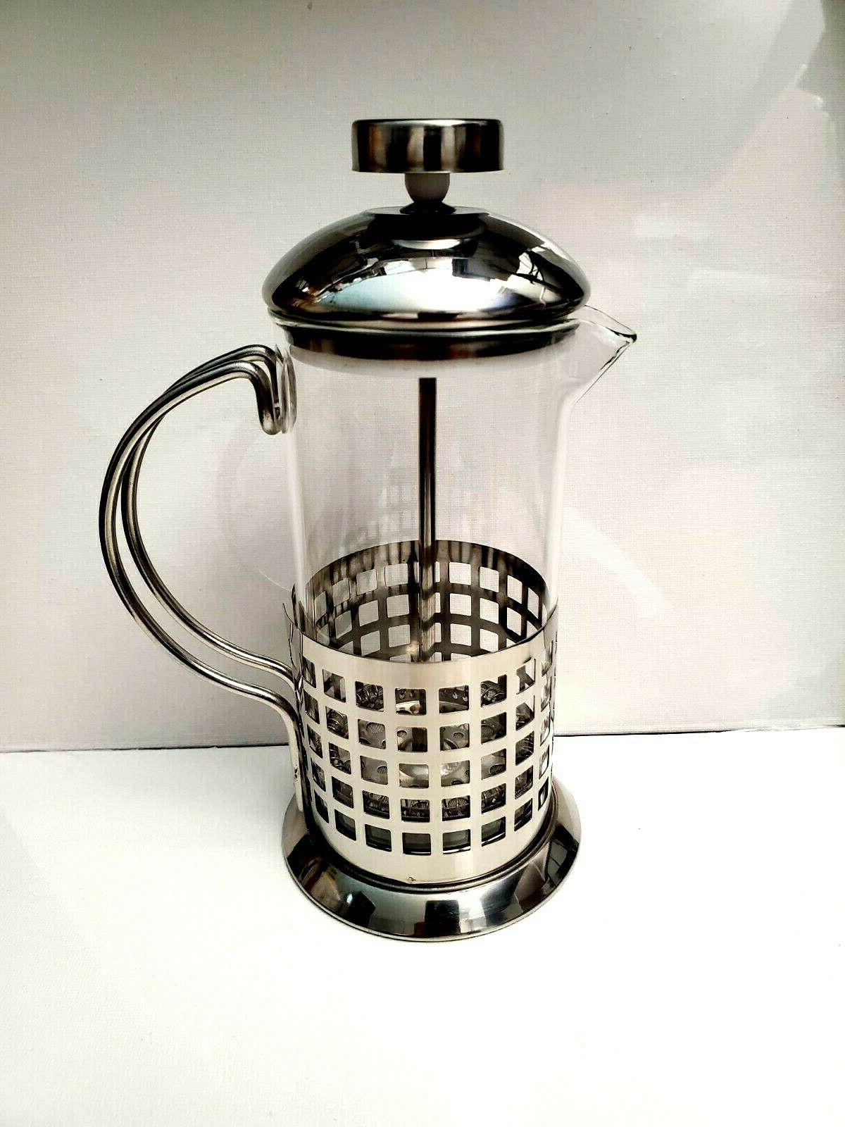 french press coffee maker 12oz stainless steel
