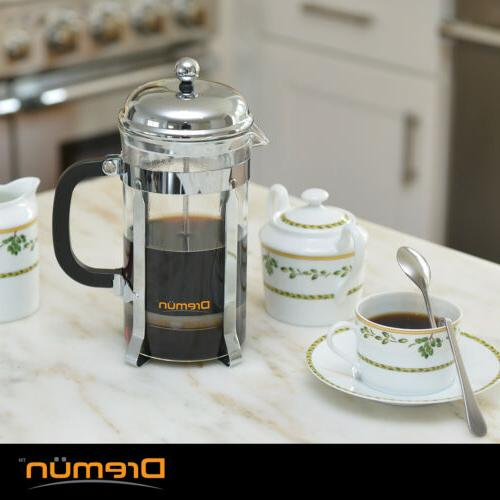 French Press Coffee 34 Double Filtration, Spoon Filters