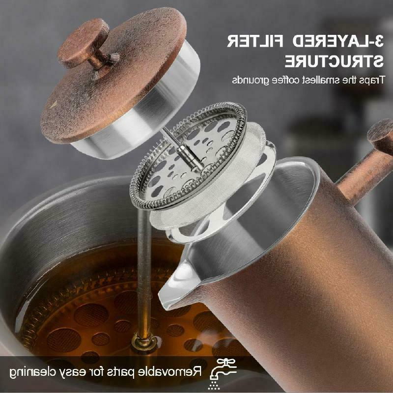 SECURA FRENCH PRESS ~ COFFEE 34oz 1000ML STEEL