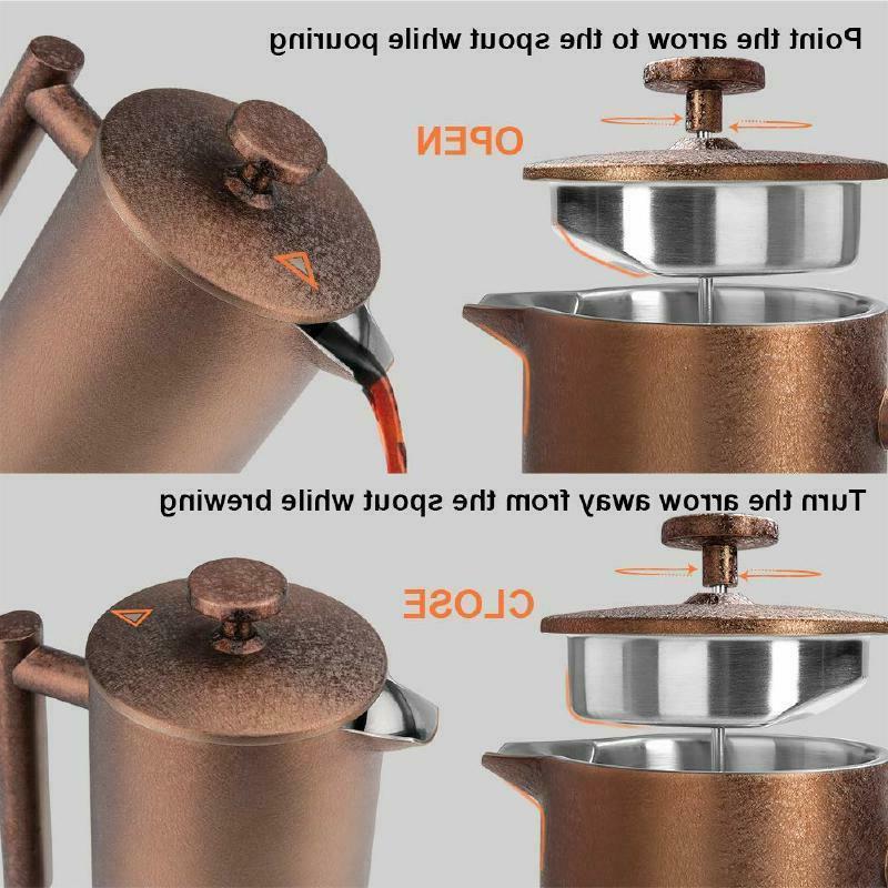 SECURA ~ ~ COFFEE MAKER 34oz / STEEL 304 ~