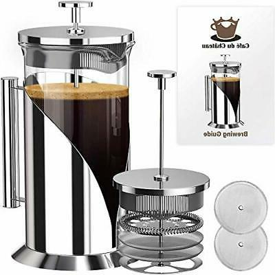 SterlingPro French Press Coffee Maker1.75L-Double Walled Lar