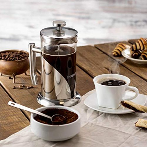 French Press - Heat Beaker, Filtered Press Includes Spoon, Measuring & Filter