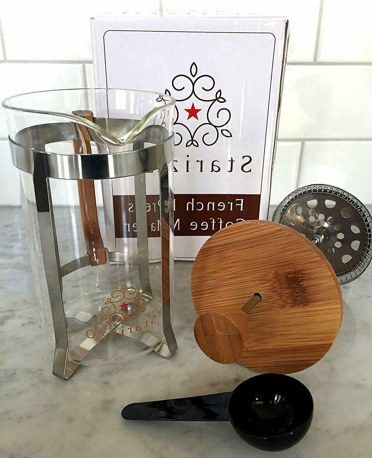 french press coffee maker home work travel