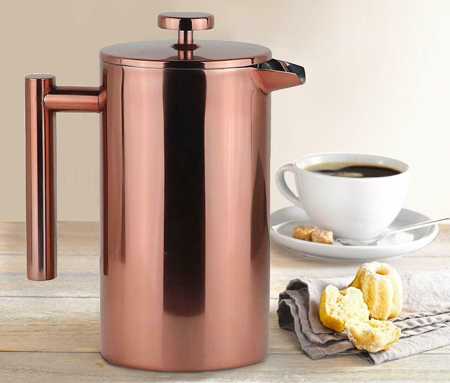 French Leaf Tea Carafe Stainless Steel Pot