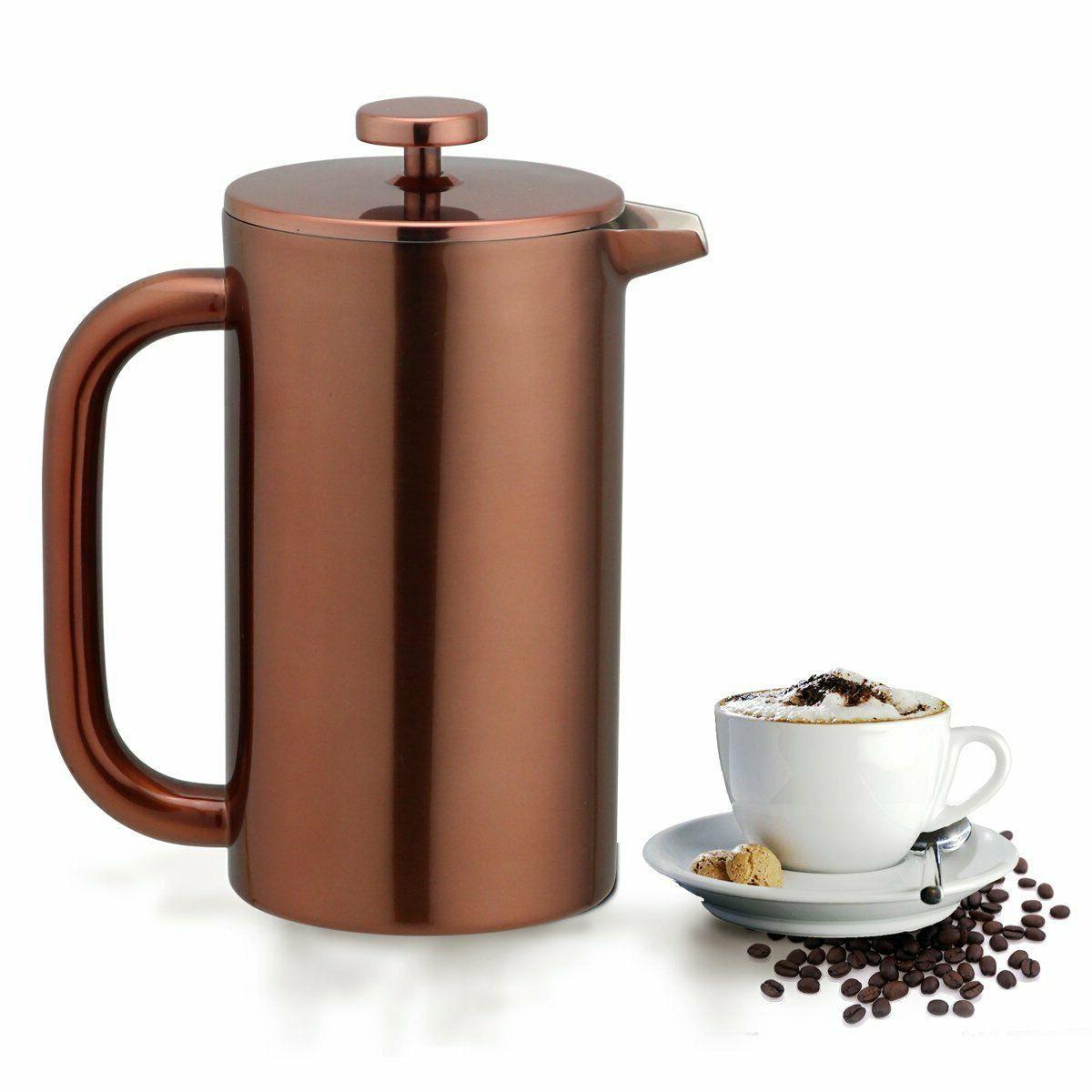 french press coffee maker leaf tea carafe