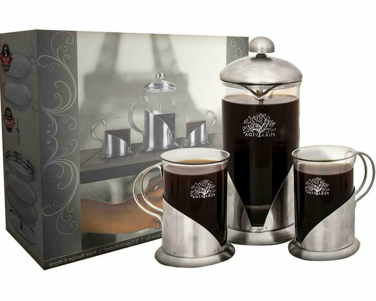 french press coffee maker set 20 ounce
