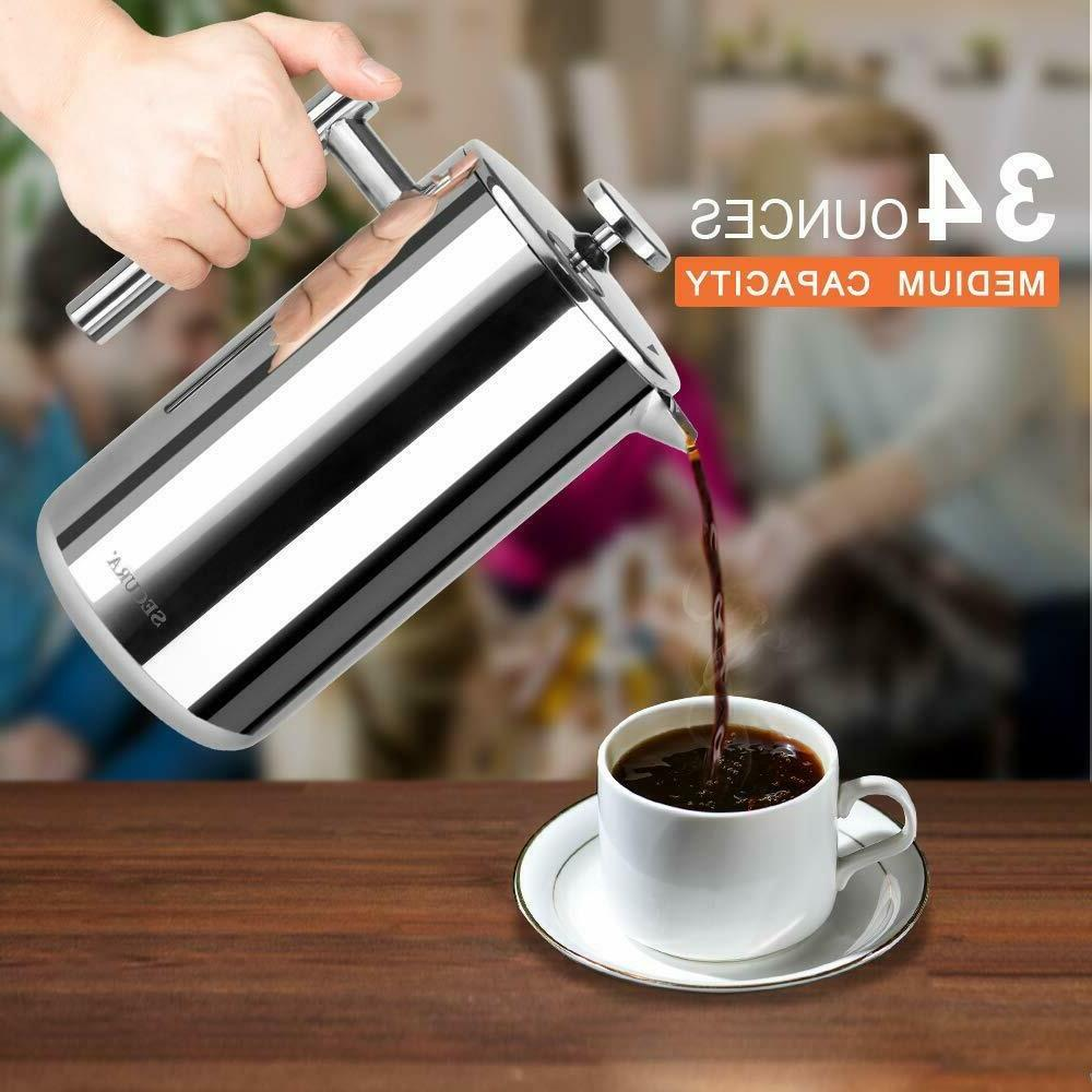 French Press SECURA Stainless Ounce