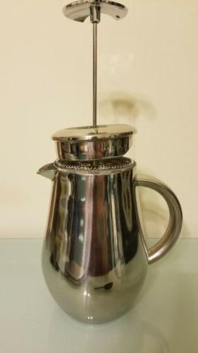 SterlingPro Press Coffee Maker Steel