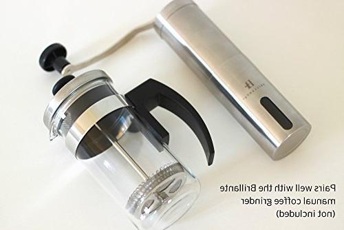 Brillante Press Coffee Maker - Oz Steel