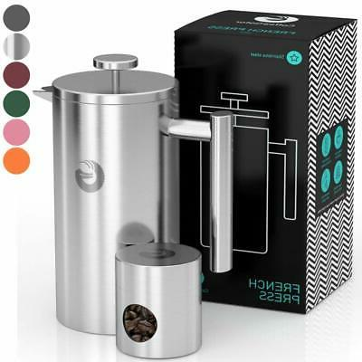 french press coffee maker thermal insulated brewer