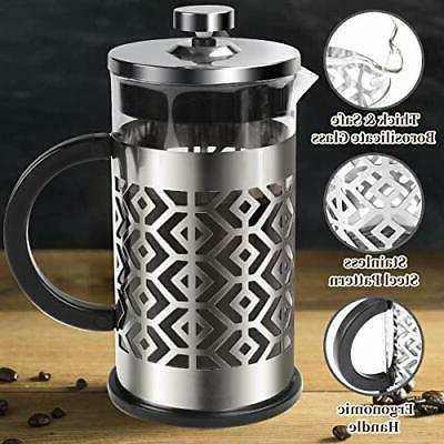 French Press Maker with Filters Resistant Durable Borosilicate Gl