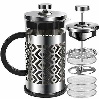 french press coffee maker with 4 filters