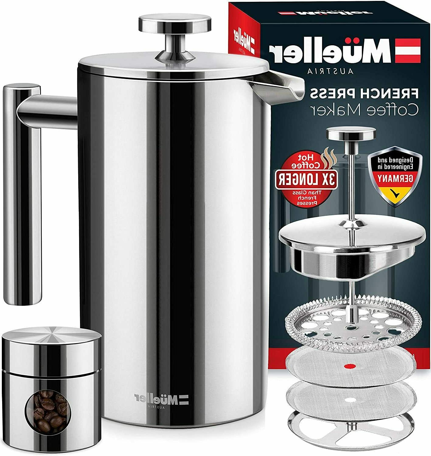 french press double insulated 310 stainless steel