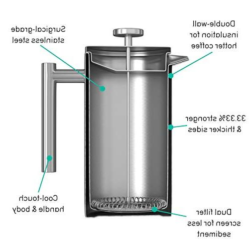 Large French Maker – Insulated Stainless 34 Ounce