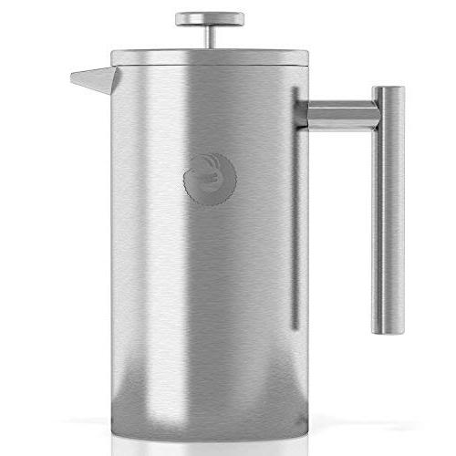 Large French Press Coffee Maker – Vacuum Stainless Steel,