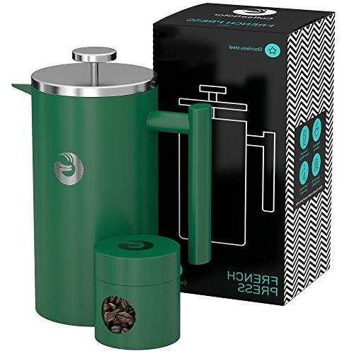 french press maker vacuum insulated