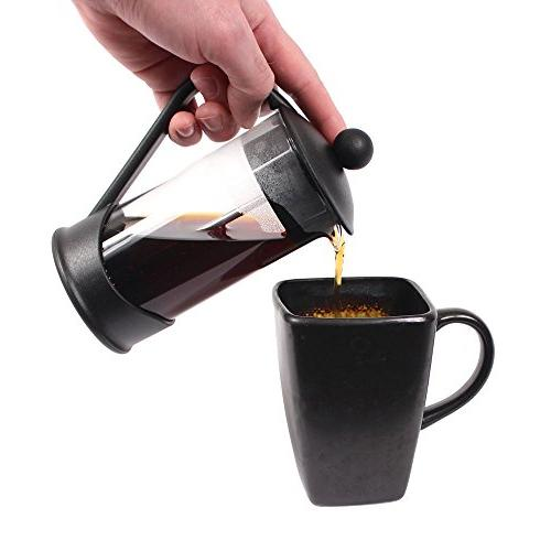 French Press Coffee by Clever Chef | Press Coffee | Maximum Flavor Coffee Superior Filtration | Cup Capacity