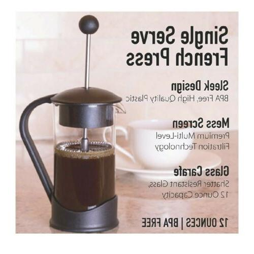 french press single serving coffee