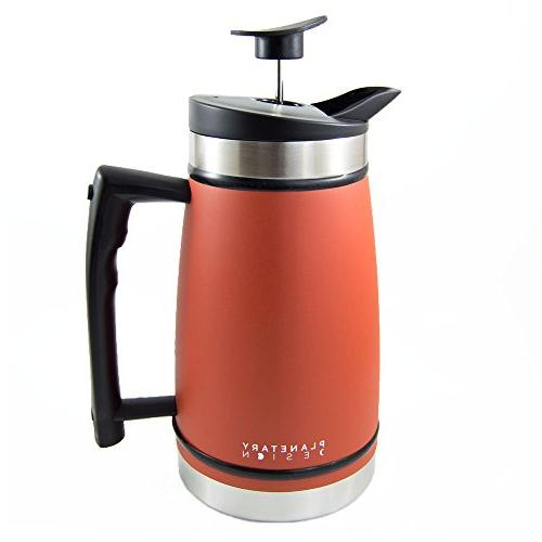 french press table coffee tea
