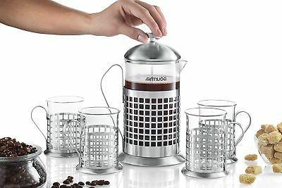 Gourmia French Coffee Maker ml Coffee Brewer
