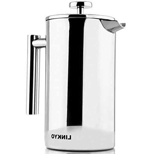 gourmet french press double wall