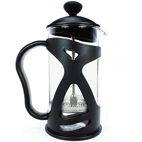 KONA French Press Single Tea Black Ounce