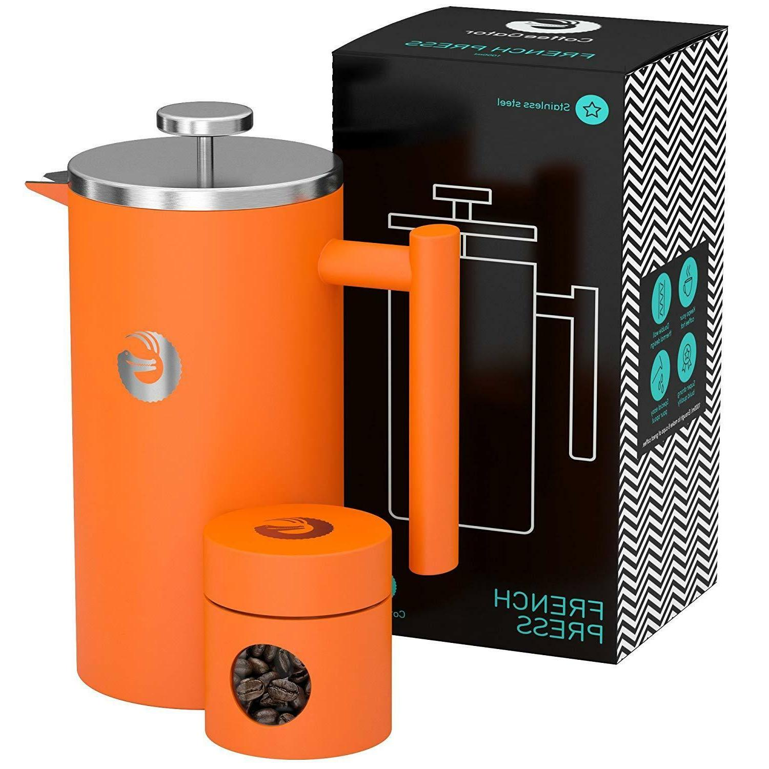 large french press coffee maker vacuum insulated