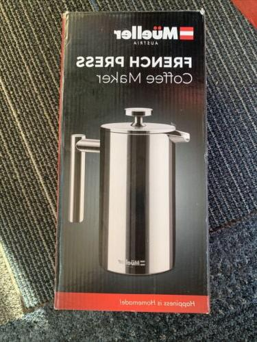 Mueller French Insulated Stainless Coffee Maker F