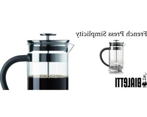 New Bialetti Press Black Modern 1L /34fl. oz. 8