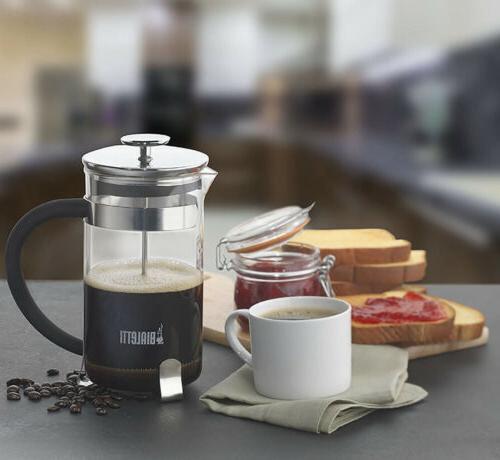 New Bialetti Coffee Press Black Modern /34fl. oz. 8 Cups