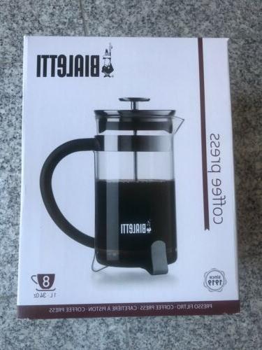 new coffee french press black modern 1l