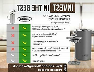 New Press Coffee Maker-Double Walled Coffee Press