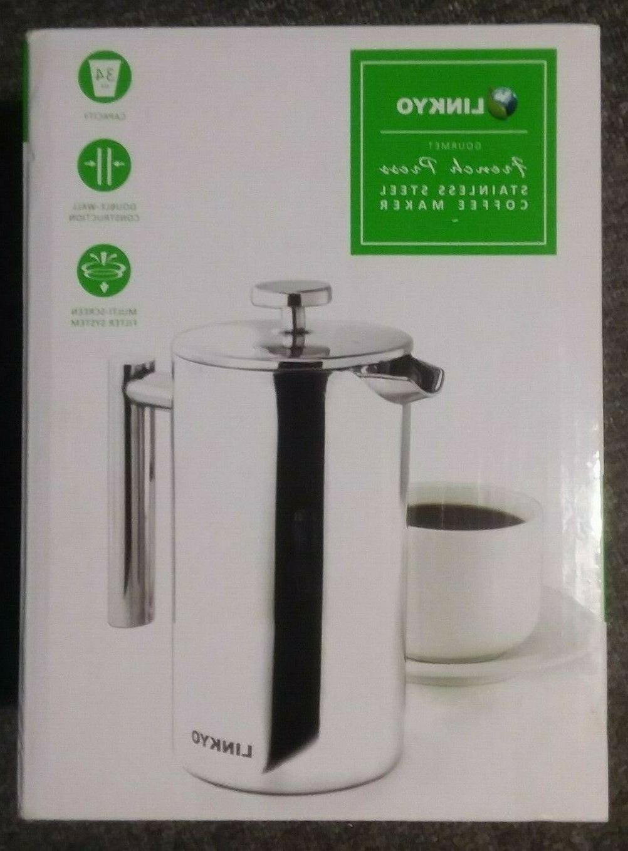 LINKYO Stainless Coffee Press